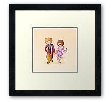 Adventure Time and Space! 6th Doctor Framed Print
