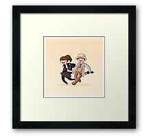 Adventure Time and Space! 7th Doctor Framed Print