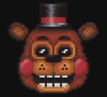 Five Nights at Freddy's 2 - Pixel art - Toy Freddy One Piece - Short Sleeve