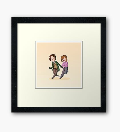 Adventure Time and Space! 8th Doctor Framed Print