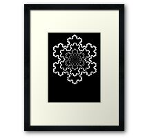 The Koch Snowflake Framed Print