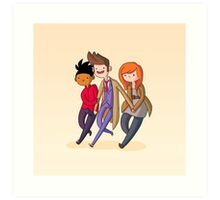 Adventure Time and Space! 10th Doctor Art Print