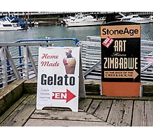Sandwich Boards and others Photographic Print
