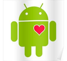 Android Robot Love Poster
