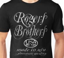 rogers brothers usa ny logo distressed Unisex T-Shirt