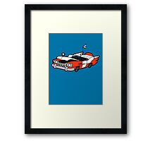 Junk Pile Cats Cadillac Framed Print