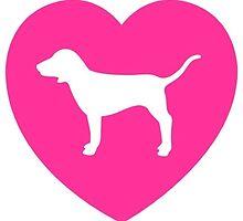 PINK Dog  by dallasdee