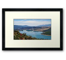 The Changing Colours of Lake Iznajar, Spain Framed Print