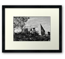 The Old Stone House Of Valyermo Framed Print