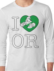 I PNW:GB OR (black) Green Heart v2 Long Sleeve T-Shirt