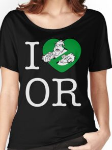 I PNW:GB OR (black) Green Heart v2 Women's Relaxed Fit T-Shirt