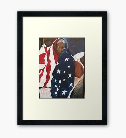 Katrina, waiting for relief. Framed Print