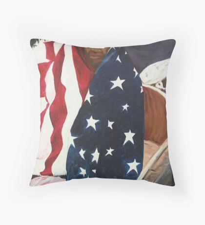 Katrina, waiting for relief. Throw Pillow