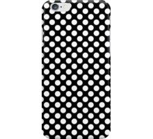 Black and white polka dots pattern iPhone Case/Skin