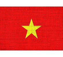 Vietnam flag Photographic Print