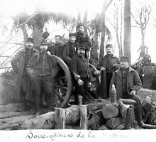 Unpublished 06 (n&b)(t) Non-commissioned officers of the Battery 1915  photographs ever published 1914-1918 war photos and Tribute to my 2 great Uncles Clerté-Fayolle and Eugéne Pellafol died in 1915  by Okaio - caillaud olivier