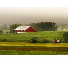 Tilling the fields Photographic Print