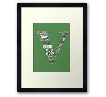 GTA V Typography Framed Print