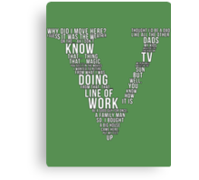 GTA V Typography Canvas Print