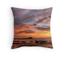 Nobbys Beach NSW Throw Pillow