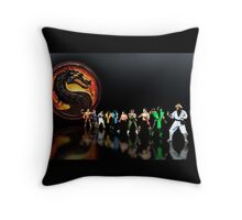 Mortal Kombat pixel art Throw Pillow