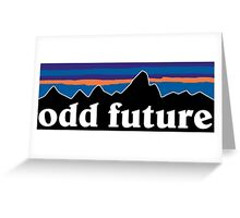 Odd Future Mountain background Greeting Card