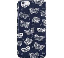 Indigo Butterflies by Andrea Lauren iPhone Case/Skin