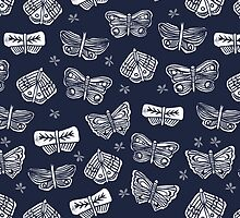 Indigo Butterflies by Andrea Lauren by Andrea Lauren
