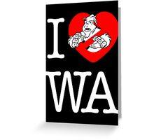 I PNW:GB WA (black) v2 Greeting Card