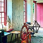 Spinning Wheel Near Window by Susan Savad