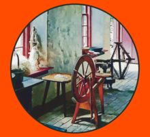 Spinning Wheel Near Window Kids Clothes
