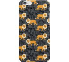 Safari Lion Pattern by Andrea Lauren iPhone Case/Skin