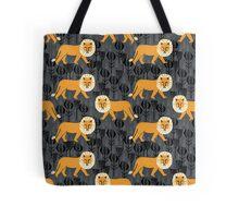 Safari Lion Pattern by Andrea Lauren Tote Bag