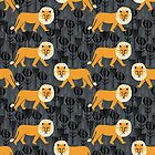 Safari Lion Pattern by Andrea Lauren by Andrea Lauren