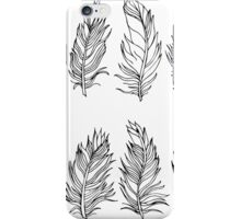 Feather Black Outline Design iPhone Case/Skin