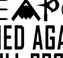 No Weapon Shall Prosper (Gritty Black) Sticker