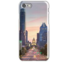 Texas State Capitol from Congress Avenue in the Morning 7 iPhone Case/Skin