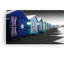 Bathing Boxes, Brighton Beach Canvas Print