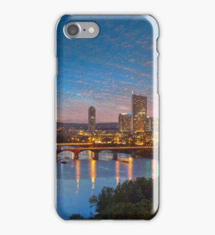 Austin Texas Skyline in the Evening 1 iPhone Case/Skin