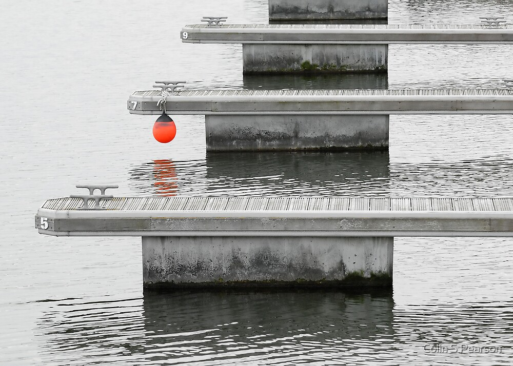 BoardWalks 579 And Red Ball by Colin S Pearson