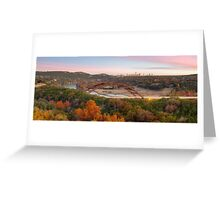 The Austin Skyline and 360 Bridge Pano Image Greeting Card