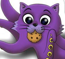 Octokitty loves milk and cookies Sticker