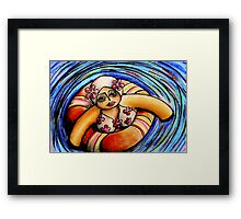 Floating Peach Framed Print