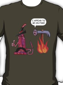 The Mighty Boosh – Charlie Sets Fire to a Posh Hammer T-Shirt