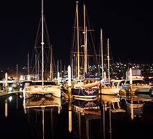 Night Boat Reflections by Colin Locke