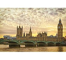 London, Westminster at sunset Photographic Print