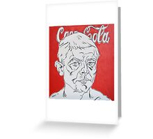 Portrait with Coca Cola Greeting Card