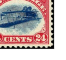 Inverted Jenny Stamp - Small Sticker