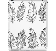 Feather Black Outline Design iPad Case/Skin
