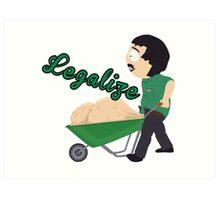 Legalize Marijuana, Randy Marsh South Park style Art Print